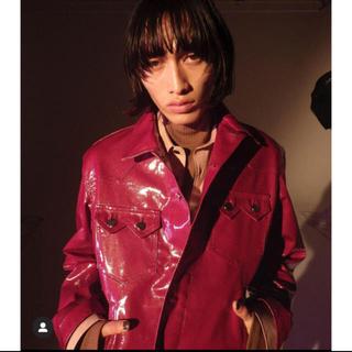 FACETASM - littlebig shiny denim jacket