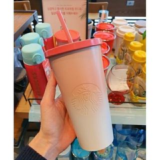 Starbucks Coffee - 韓国スタバ★ サマー ピンクグラデーションコールドカップ591ml