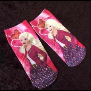 バービー(Barbie)の16-18cm◾︎新品! バービー靴下 ◾︎子供用キッズソックス17ピンク(靴下/タイツ)