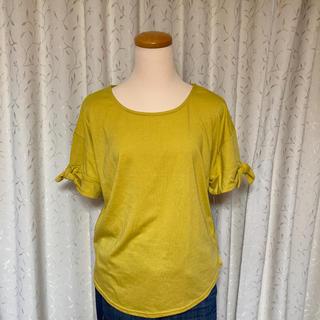 新品 袖りぼん Tシャツ ①(Tシャツ(半袖/袖なし))
