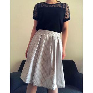シマムラ(しまむら)の美品 リバーシブルフレアスカート(ひざ丈スカート)