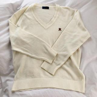 関東国際 セーター 白