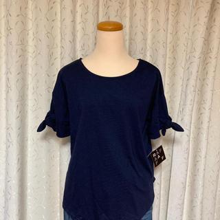 新品 袖口りぼん Tシャツ ②(Tシャツ(半袖/袖なし))