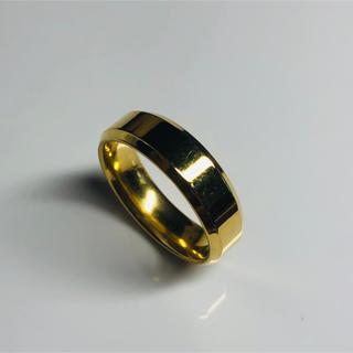 指輪 ステンレス鋼リング ゴールド(リング(指輪))