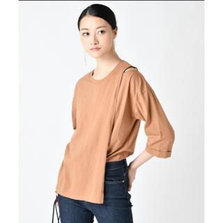 ディーホリック(dholic)のオープンショルダーレイヤードTシャツ(Tシャツ(半袖/袖なし))