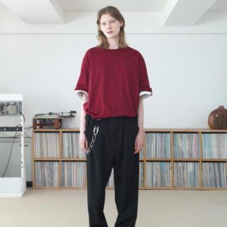 SUNSEA - サンシー sunsea 20ss Tシャツ 赤 サイズ2