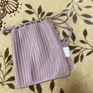 しまむら - 新品 しまむら プリーツ巾着バッグ 中紫