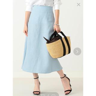 デミルクスビームス(Demi-Luxe BEAMS)のデミルクスビームス リネンスカート  ブルー(ロングスカート)