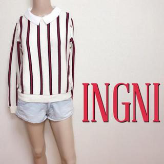 INGNI - 爆かわ♪イング 2WAY 付けエリ カジュアルニット♡ダズリン マウジー