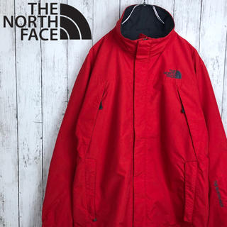 THE NORTH FACE - 【美品】【海外モデル】【ノースフェイス】刺繍ロゴ☆ナイロンジャケット☆赤