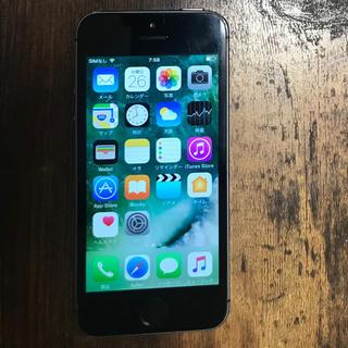 アイフォーン(iPhone)のiPhone5S 16GB 本体シムフリー ブラック(スマートフォン本体)