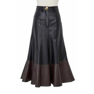 snidel - 【Her lip to】Faux Leather Midi Skirt