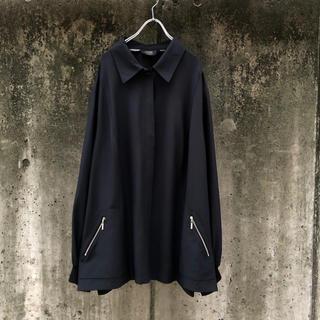 Maison Martin Margiela - vintage デザイン シルク シャツ ジャケット ブルゾン ブラック