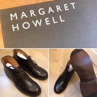 MARGARET HOWELL - マーガレットハウエル CALF LEATHER BOOT レースアップ