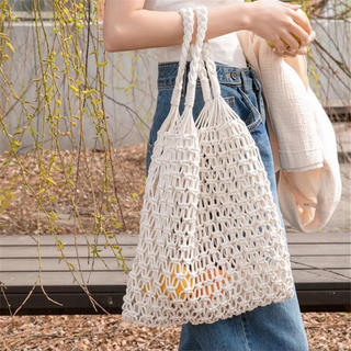 TODAYFUL - paper bag with purse【beige】