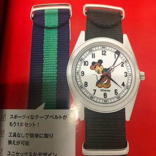 ディズニー(Disney)のヴィンテージ調 替えベルト付き ミッキーマウス腕時計(腕時計)