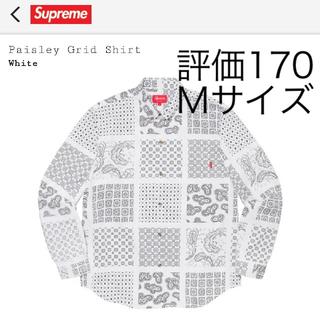Supreme - 正規品 Supreme Paisley Grid Shirt White M