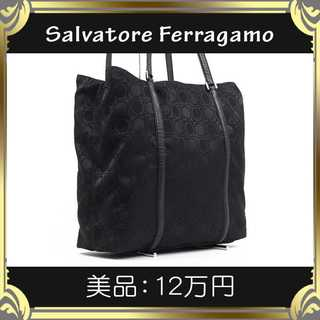 Salvatore Ferragamo - 【真贋査定済・送料無料】フェラガモのショルダーバッグ・美品・本物・ガンチーニ総柄