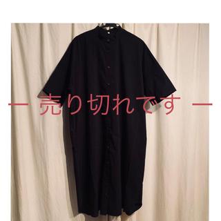 MUJI (無印良品) - 無印良品シャツワンピース ブラック