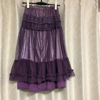 axes femme - axes femme スカート  紫 レース 新品未使用