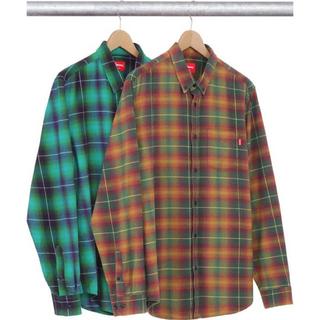 Supreme - 15ss 美品 赤 M supreme shadow plaid flannel