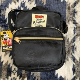 ディズニー(Disney)の【新品】ミッキー ショルダー バッグ ブラック 黒 レトロ ディズニー(ショルダーバッグ)