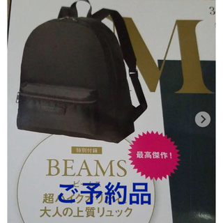 BEAMS - 【新品未使用】オトナミューズ 特別付録★BEAMS★大人の上質リュック
