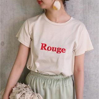 ノーブル(Noble)のEDEN NOBLE LOGO ノーブル  Tシャツ ベージュ×レッド(Tシャツ(半袖/袖なし))