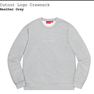 Supreme - Sサイズ supreme cutout logo crewneck grey