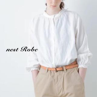 ネストローブ(nest Robe)のnest robe(ネストローブ)| リネンスタンドフリルブラウス(シャツ/ブラウス(長袖/七分))