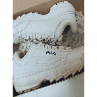 FILA - FILA DISRUPTOR2 厚底 スニーカー 白
