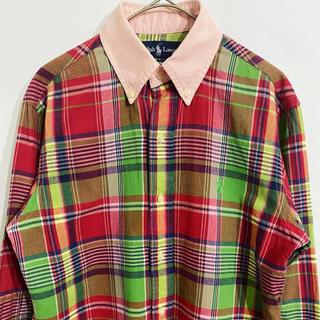 ラルフローレン(Ralph Lauren)のラルフローレン 刺繍ロゴ マルチカラー チェック 長袖 シャツ(シャツ)