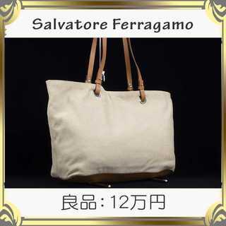 Salvatore Ferragamo - 【真贋査定済・送料無料】フェラガモのリバーシブル ショルダーバッグ・良品・本物
