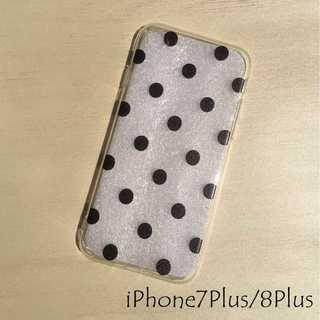 IP004 ドット柄 iPhoneケース ドットブラック 7Plus/8Plus