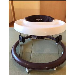永和 歩行器 シンプルウォーカー ストップマット付き ブラウン(歩行器)
