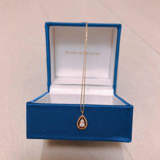 ヴァンドームアオヤマ(Vendome Aoyama)の美品 ヴァンドームアオヤマ K10 ネックレス ダイヤ(ネックレス)