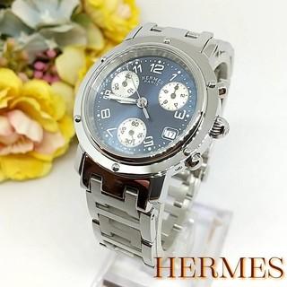 Hermes - 新品並極美 エルメス クリッパー CL1.310 クロノグラフ レディース 時計