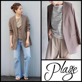 Plage - [新品未使用タグ付] Plage ◆アサシャツジャケット ブラウン 36◆