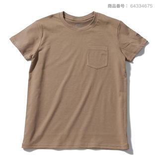 THE NORTH FACE - 新品☆ ノースフェイス シンプルロゴ ポケットTシャツ 半袖 レディース L