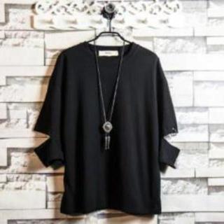 【ブラック/L】個性的な韓国ファッションTシャツ