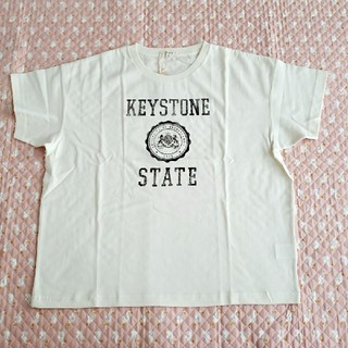 スタディオクリップ(STUDIO CLIP)のstudio CLIP ロゴプリントTシャツ L オフホワイト(Tシャツ(半袖/袖なし))
