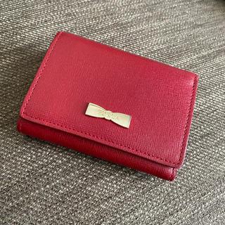 Furla - フルラ 折財布 三つ折り 赤