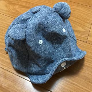 petit main - プティマイン☆くまさんキャップ 52cm デニム