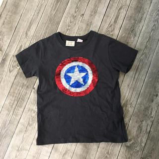 ZARA KIDS - zara boys  キャプテンアメリカ スパンコール Tシャツ 110