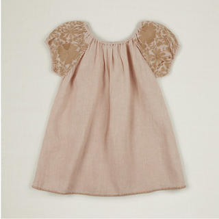 Caramel baby&child  - apolina BARBARA DRESS- PINK SAND 2-3y