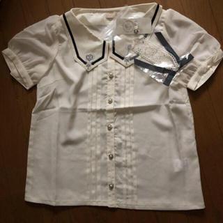 axes femme - 新品タグ付き axes femme メルヘン刺繍レースタイ付ブラウス