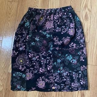 アフリカタロウ(AFRICATARO)の花柄 スカート(ひざ丈スカート)