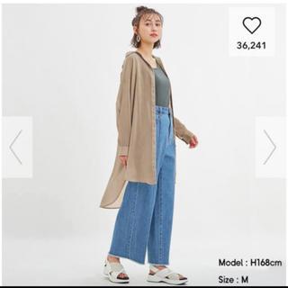 GU - ジーユー  GU  シアーロングシャツ M