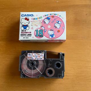 CASIO - CASIOネームランド サンリオハローキティ 18mm ピンク