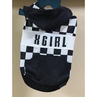 X-girl(エックスガール)  S  チェッカーフーディ 犬服 クール